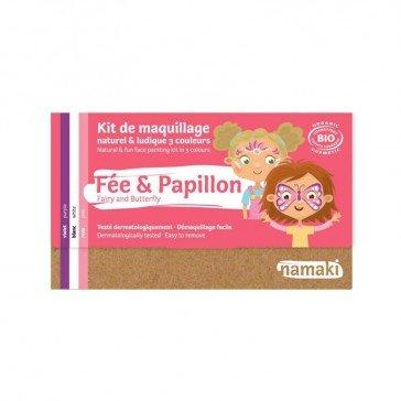 Kit de maquillage 3 couleurs Fée et Papillon - Namaki