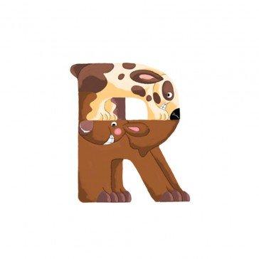 Lettre en bois pour prénom R