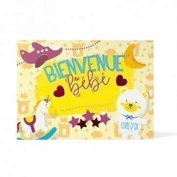 Livre d'Or Naissance - Bienvenue Bébé - Agent Paper