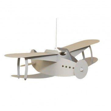 Suspension Avion Biplan gris - R&M Coudert