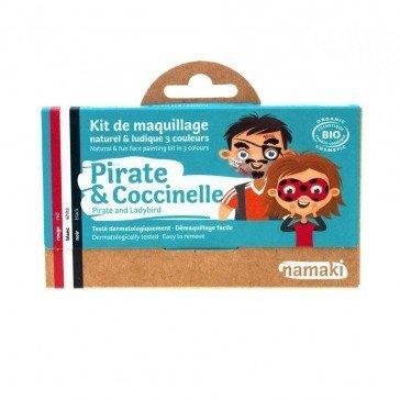Kit de maquillage 3 couleurs Pirates et Coccinelles - Namaki