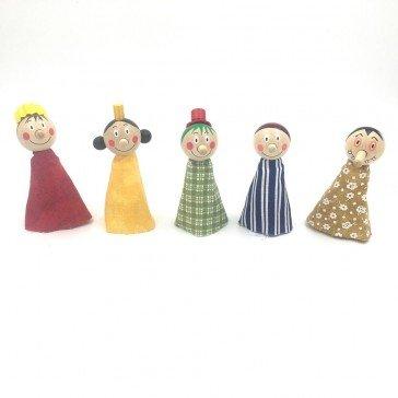 5 Marionnettes à doigts  Personnages - Artisan Tchèque