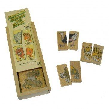 Mémo-Dominos des Animaux de la Ferme - Artisan du Jura