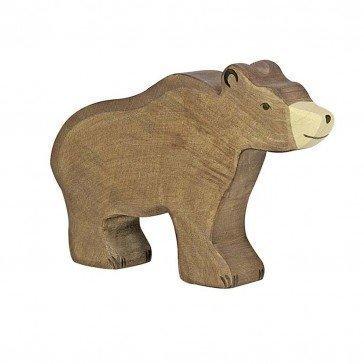 Ours brun en bois - Holztiger