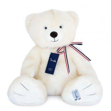 L'Ours français - Blanc poudré 50 cm - Maïlou Tradition