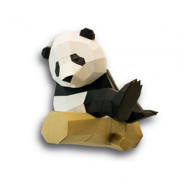 Grand Panda sur branche en 3D - Agent Paper