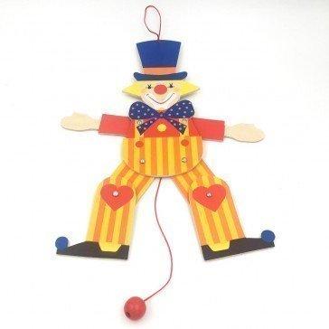 Pantin articulé Bozo le clown 30 cm - Fabricant Allemand