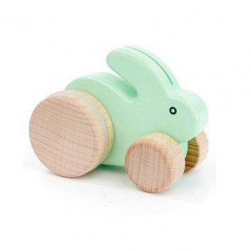 Petit lapin vert pastel - Fabricant Polonais