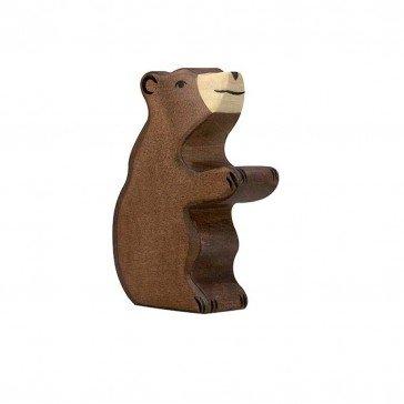 Petit Ours brun en bois - Holztiger