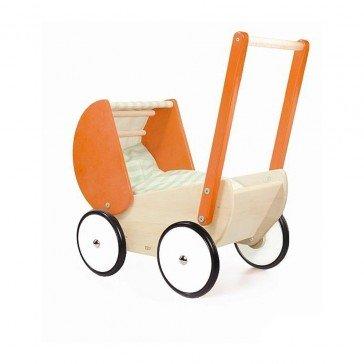 Poussette style rétro orange - Artisan Polonais