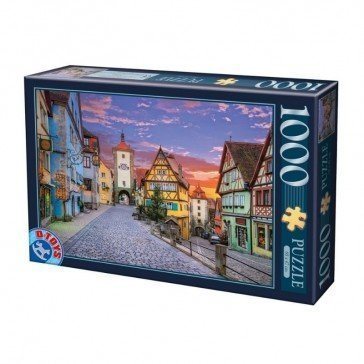 Puzzle 1000 pièces - Allemange - Ville de Rothenburg - DToys