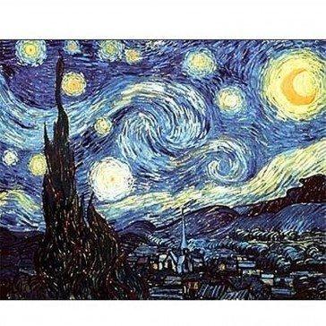 Puzzle 1000 pièces Van Gogh - La nuit étoilée - DToys