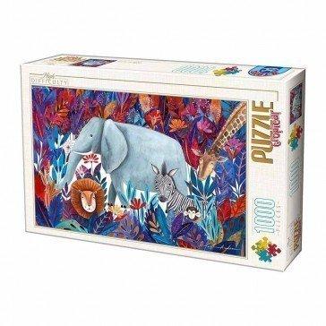 Puzzle 1000 pièces  Kürti Andrea - Eléphant - D-toys