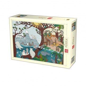 Puzzle 1000 pièces - Nature Été et Hiver - DToys