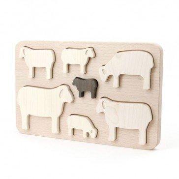 Puzzle en bois Moutons - Artisan Polonais
