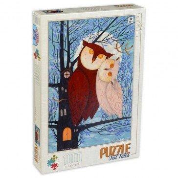Puzzle 1000 pièces Kürti Andrea - Deux Hiboux - D Toys