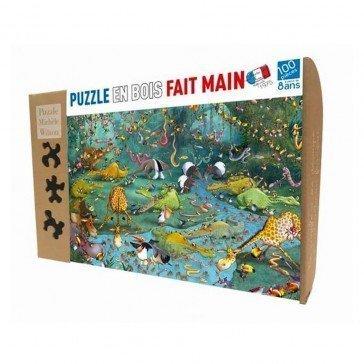 Puzzle en bois Crocos et compagnie - 100 pièces - Puzzles Michèle Wilson