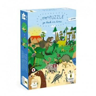 Puzzle à remonter le temps 150 pièces - Jurassique - Pirouette Cacahouete