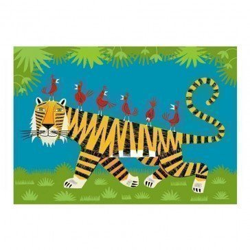 Puzzle en bois Le Tigre 24 pièces - Puzzles Michèle Wilson