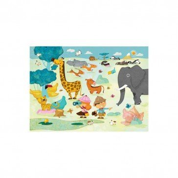 Puzzle en bois Safari photos 24 pcs - Puzzles Michèle Wilson