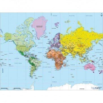 Puzzle carte du monde 502 pcs - Michèle Wilson