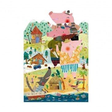 Puzzle Mes 3 petits cochons 36 pièces - Londji