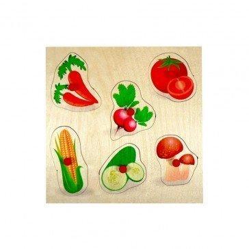 Puzzle en bois Premier âge - Légumes - Fabricant Allemand