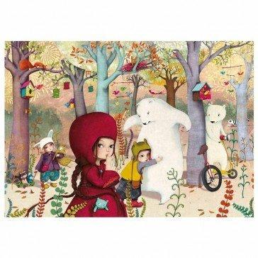 Puzzle Rencontre en Forêt 24 pcs - Puzzle Michèle Wilson