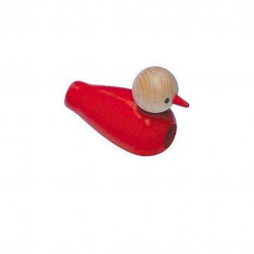 Oiseau siffleur rouge