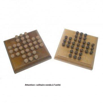 Solitaire en bois format carré - Artisan du Jura