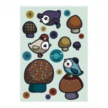 Stickers repositionnables Piou Piou bleu - Poisson Bulle