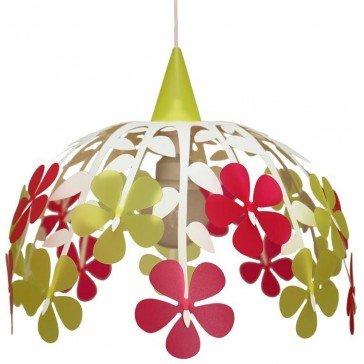 Suspension Bouquet framboise-citron vert - Luminaires R&M COUDERT