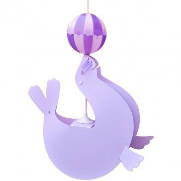 Suspension Otarie Lilas ballon violet - R&M COUDERT