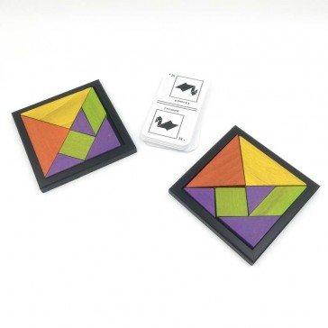 Tangram speed coloré pour 2 joueurs - Guy Jeandel