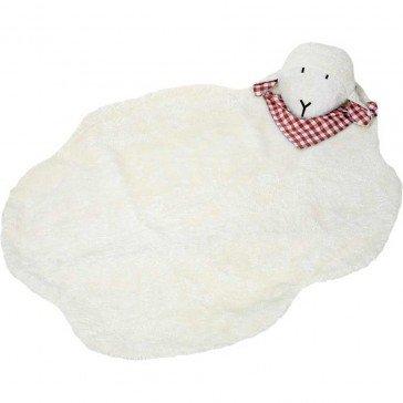 Tapis de jeu Mouton en coton biologique 95 x 75 cm - Fabricant allemand