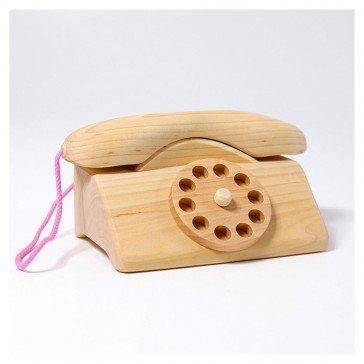 Téléphone en bois massif naturel - Grimm's