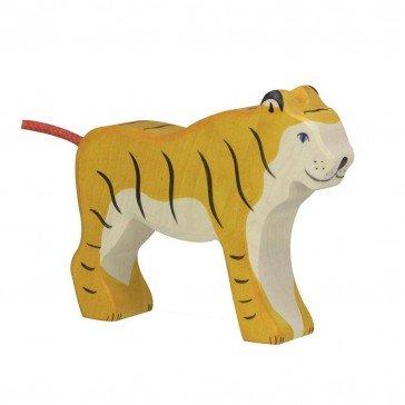 Tigre en bois - Holztiger
