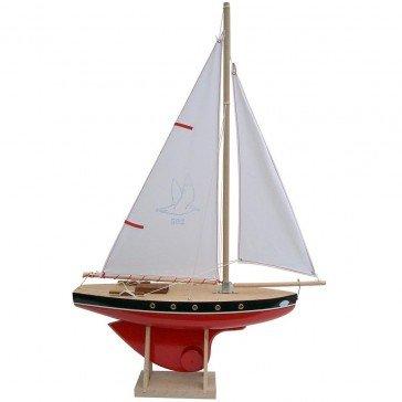 Voilier coque rouge 40 cm - Bateaux Tirot