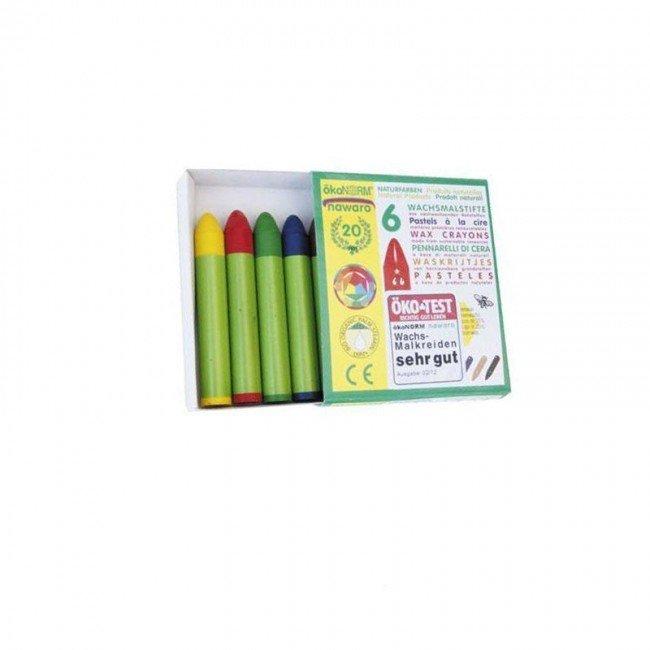 6 crayons pastels la cire konorm. Black Bedroom Furniture Sets. Home Design Ideas