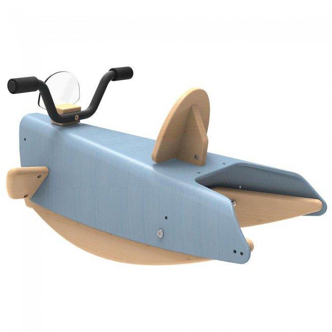bascule en bois moto bleue chou du volant. Black Bedroom Furniture Sets. Home Design Ideas
