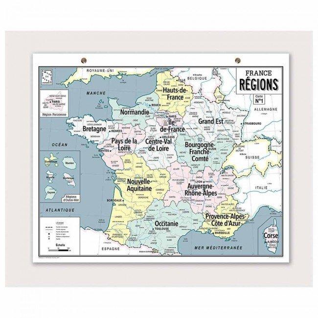 Carte Vintage La France Des Regions Emile En Ville Jeujouethique Com