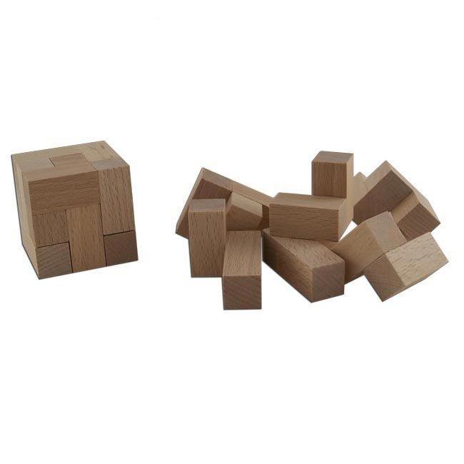 Puzzle cube / casse tête en bois - Ebert | Jeujouethique.com