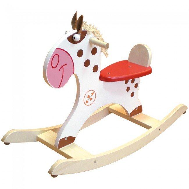 cheval bascule en bois poney indien scratch europe. Black Bedroom Furniture Sets. Home Design Ideas