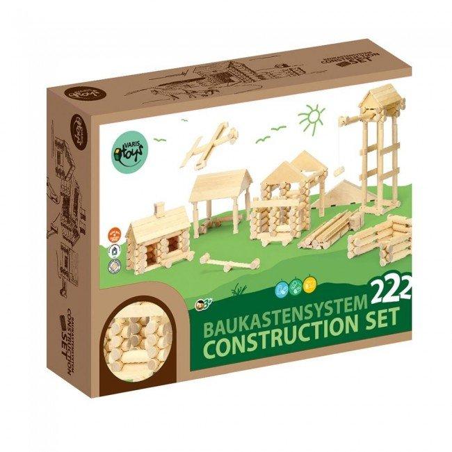 ensemble de construction 222 pi ces en bois varis toys. Black Bedroom Furniture Sets. Home Design Ideas