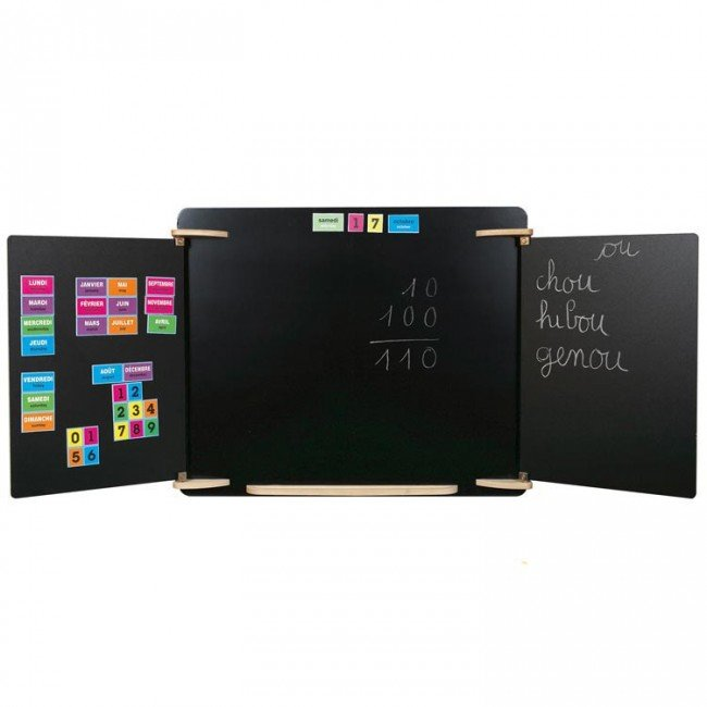 tableau mural comme l 39 ecole jb bois. Black Bedroom Furniture Sets. Home Design Ideas