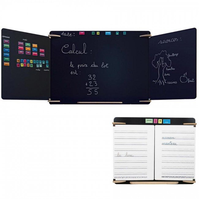 tableau mural comme l 39 ecole xxl jb bois. Black Bedroom Furniture Sets. Home Design Ideas