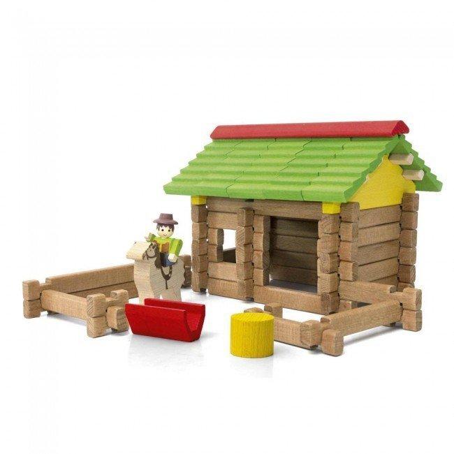 mon premier chalet en bois jeujura. Black Bedroom Furniture Sets. Home Design Ideas