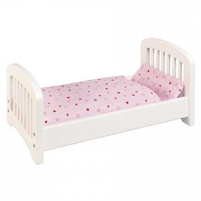 lit de poup e en bois blanc fabricant europ en. Black Bedroom Furniture Sets. Home Design Ideas