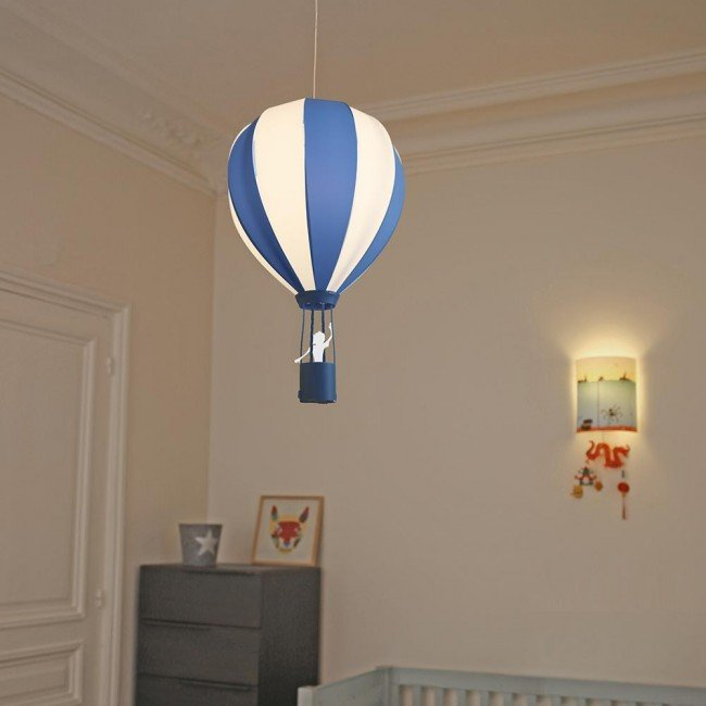 suspension montgolfi re turquoise r m coudert. Black Bedroom Furniture Sets. Home Design Ideas