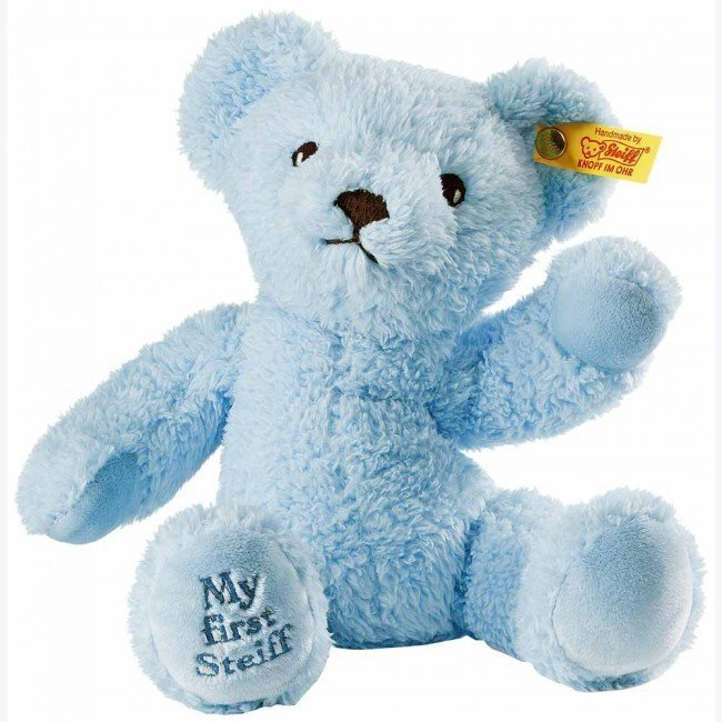 mon premier teddy bear steiff bleu steiff. Black Bedroom Furniture Sets. Home Design Ideas